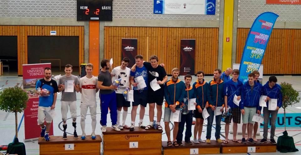 Heidelberg Fechten Gold Medaille Deutsche Mannschafts Hochschulmeisterschaft