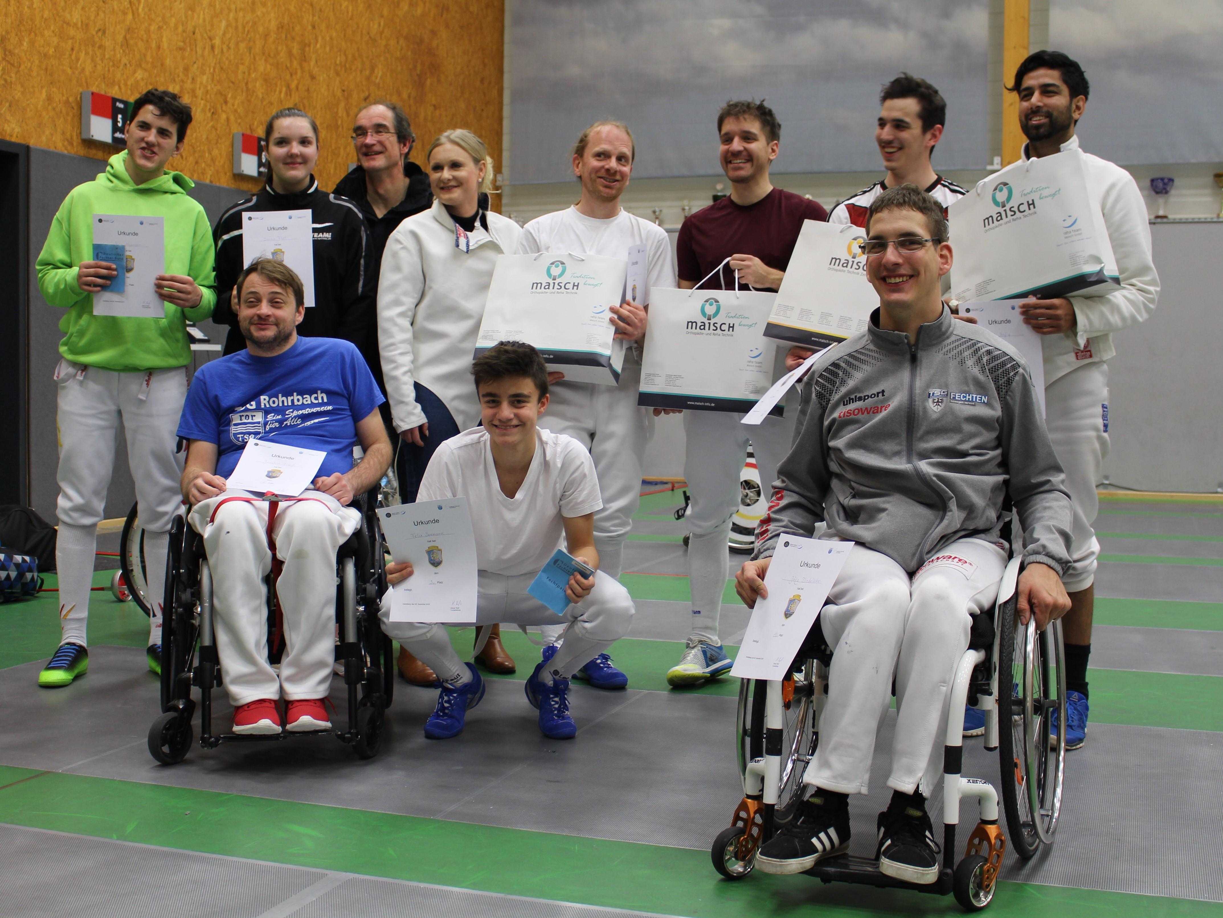 Heidelberg Fechten Degen Rollstuhl Turnier