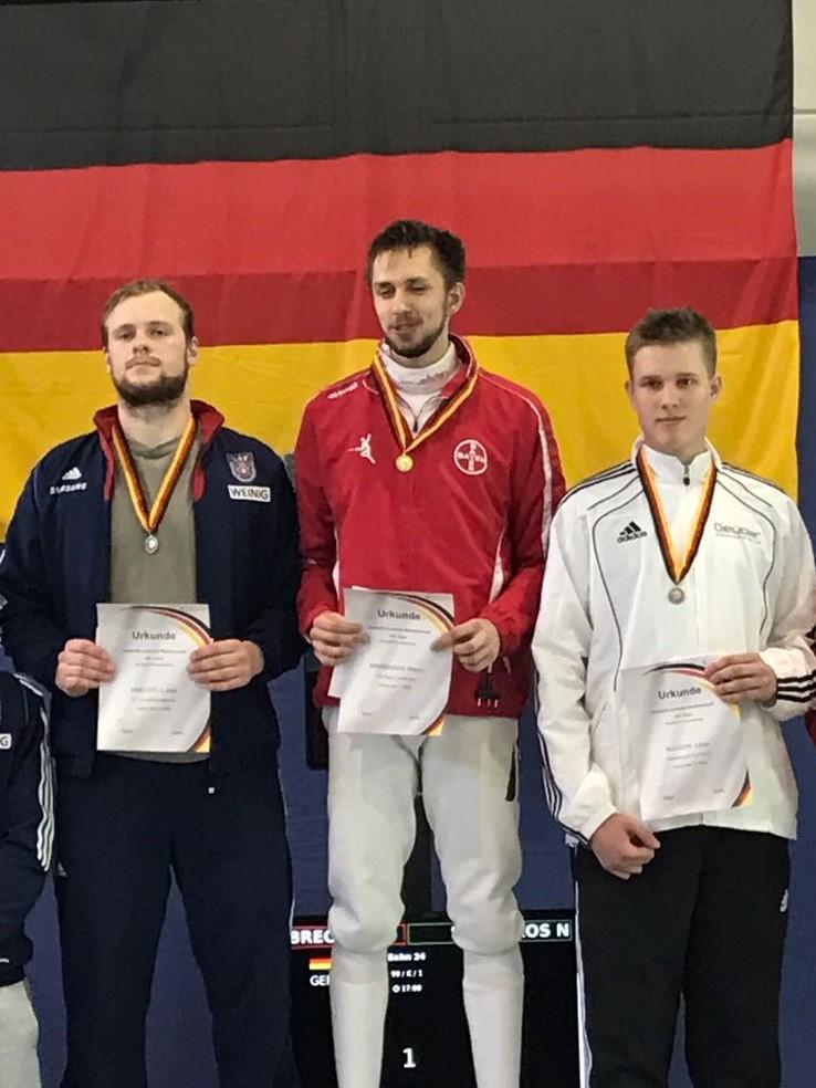 Heidelberg Fechten Siegerehrung Juniorenmeisterschaft