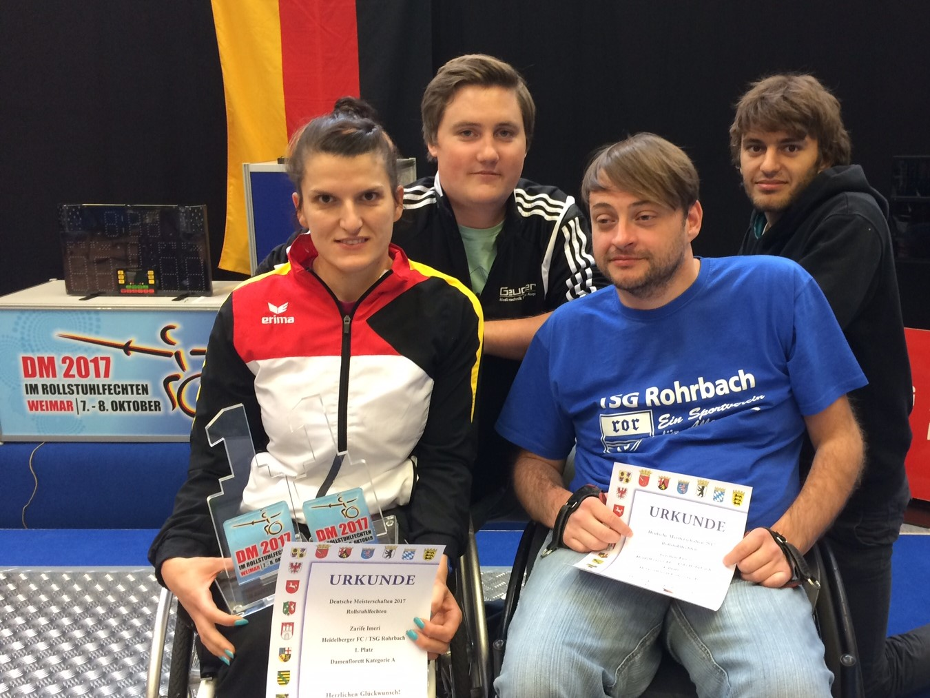 Heidelberg Fechten Zariffe Deutsche Meisterin